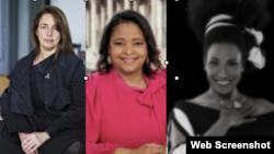"""Combinación de fotografía de la Revista People en Español de """"Las 25 mujeres más poderosas"""". De izq. a der. Bruguera, Montenegro y Nuviola."""