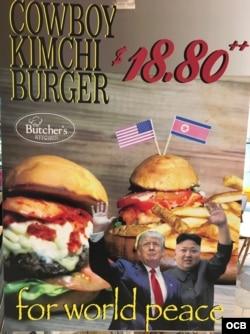 Cowboy Kimchi Burger de Singapur