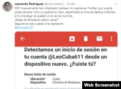 Alerta de Twitter ante intento de hackeo
