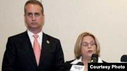Congresistas Ileana Ros-Lehtinen y Mario Díaz-Balart