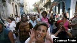 Acto de repudio contra activistas en Santiago de Cuba