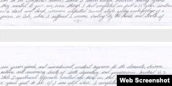 Parte de la carta de William Potts a Obama donde describe sus condiciones carcelarias en Cuba