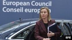 Federica Mogherini, jefa de la diplomacia de la Unión Europea (UE).