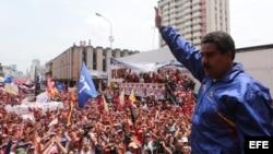 Nicolás Maduro, durante una caravana electoral en la ciudad de San Cristóbal, Estado Táchira.