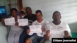 Reporta Cuba. Activistas en huelga de hambre, en Placetas.