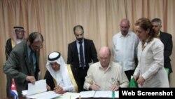 Arabia Saudita y Cuba firman acuerdos de colaboración