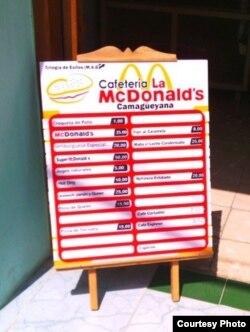 Cafetería en Camagüey McDonalds