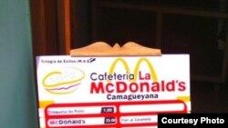 Cafetería en Camagüey McDonald's.