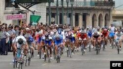 Fotografía de archivo. Vuelta ciclística a Cuba.