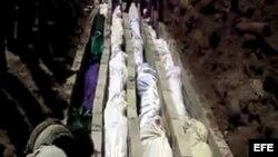 Imágenes del funeral de las víctimas ded la masacre de Haula