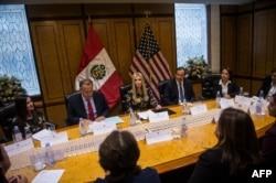 Ivanka Trump en la Cumbre de Lima, Perú.