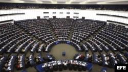 Vista general de la sesión plenaria del Parlamento Europeo en Estrasburgo (Francia).