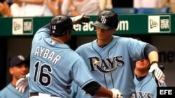 Peloteros de Grandes Ligas del equipo Rays de Tampa Bay.