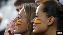 Simpatizantes de la selección de fútbol española.