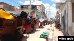 Complejo de viviendas familiares derrumbado en Santiago de Cuba.