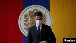 Juan Guaidó, el presidente interino de Venezuela en una sesión de la Asamblea Nacional.