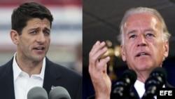 Paul Ryan (izq.) y Joe Biden (der.) se enfrentarán este jueves en un debate que podría ser definitorio.