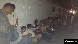 En protesta frente a la 4ta estación de policías en La Habana