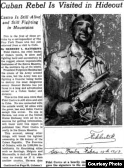 El reportaje de Herbert L. Matthews.