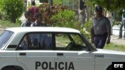 Foto de archivo de policías cubanos.