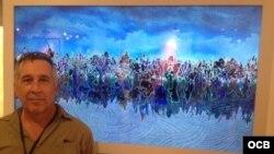 Claudio Castillo, en Spectrum Feria en ocasión de Art Basel Miami 2015.