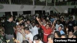 Servicio en un templo cubano de las Asambleas de Dios (pentecostales).