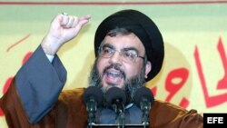 El líder libanés de Hezbollah Sheikh Hassan Nasrallah.