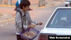 El trabajo infantil en las calles de Centroamérica.