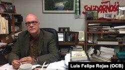 Orlando Gutiérrez Boronat, director del Directorio Democrático Cubano, ofrece declaraciones a Martí Noticias.