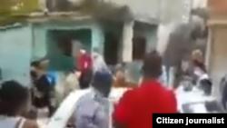 La detención en La Habana de Osmani Pardo Guerra, el 2 de marzo de 2021.