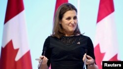 La canciller canadiense, Chrystia Freeland.