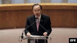 El secretario general de la ONU, Ban Ki-moon.