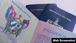 Imágenes de pasaporte cubano.
