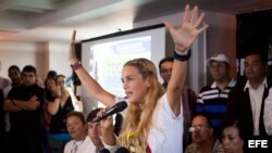 FOTOGALERIA. Tintori, la mujer que encabezó el incansable reclamo por la libertad de Leopoldo López