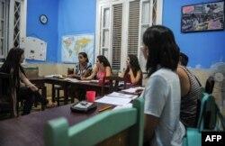 Una escuela privada que ofrece clases de Inglés.