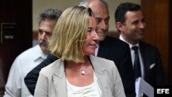 La jefa de la diplomacia de la Unión Europea (UE), Federica Mogherini, en visita a Cuba.