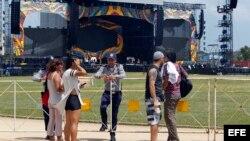 Los Rolling Stones en Cuba para histórico concierto.