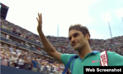 Federer dice adiós al público.