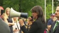 Protesta de exiliados ante las Naciones Unidas