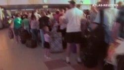 Caos en el aeropuerto de Sharm el Sheikh en Egipto