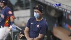 El pelotero cubano Aledmys Diaz dijo que utilizara una mascara cuando salga al terreno con los Astros de Houston