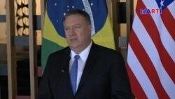 Pompeo elogia a Brasil y critica a Cuba y Venezuela