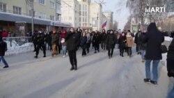 Protestas masivas en Rusia para la liberación de Aleksei Navalny