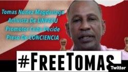 Imagen de la campaña por la liberación de Tomás Núñez Magdariaga.