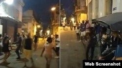 """Residentes de San Isidro cantan """"Patria y Vida"""" en plena calle. (Captura de video/Facebook)"""