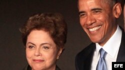 Dilma Rousseff y Barack Obama. Foto Archivo.