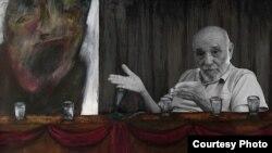 """Rafael Alcides (fotograma del documental """"Nadie"""", de Miguel Coyula)."""