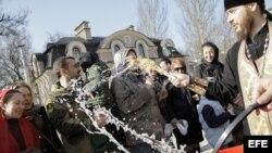 Ucrania celebración de la Pascua Ortodoxa.