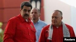 Nicolás Maduro y Diosdado Cabello, en una imagen de archivo.