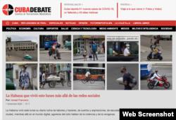 La fotogalería de Cubadebate, desplegada en la portada.
